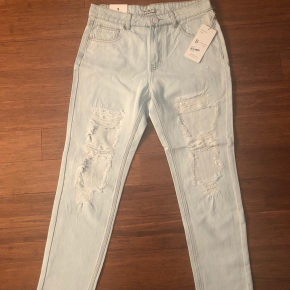 American Bazi Denim - Distressed high rise denim jeans